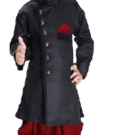 JBN Creation Kids Biker Jacket Look Indowester Sherwani Suit Dress with Patiala Style Cowl Dhoti Pant For Boys