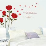 Decals Design 'Attractive Rose Flowers' Wall Sticker
