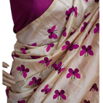 Nena Fashion Women Cotton Silk Saree With Blouse Piece (Purple_Free Size)