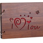 Sehaz Artworks 'ILoveYou' Wood Pasted Photo Album